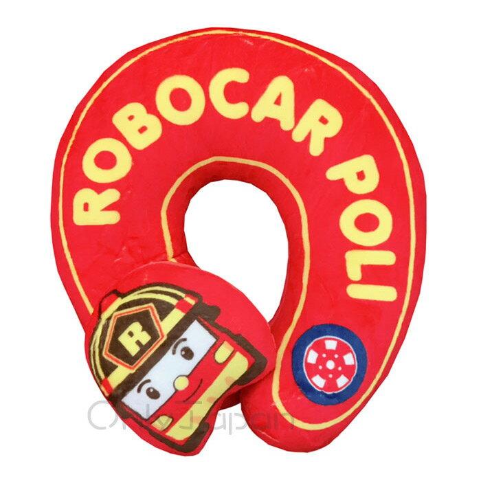 【真愛日本】17122600013 造型U型頸枕-羅伊消防車 POLI 波力 救援小英雄 迪士尼 午睡枕 U型枕