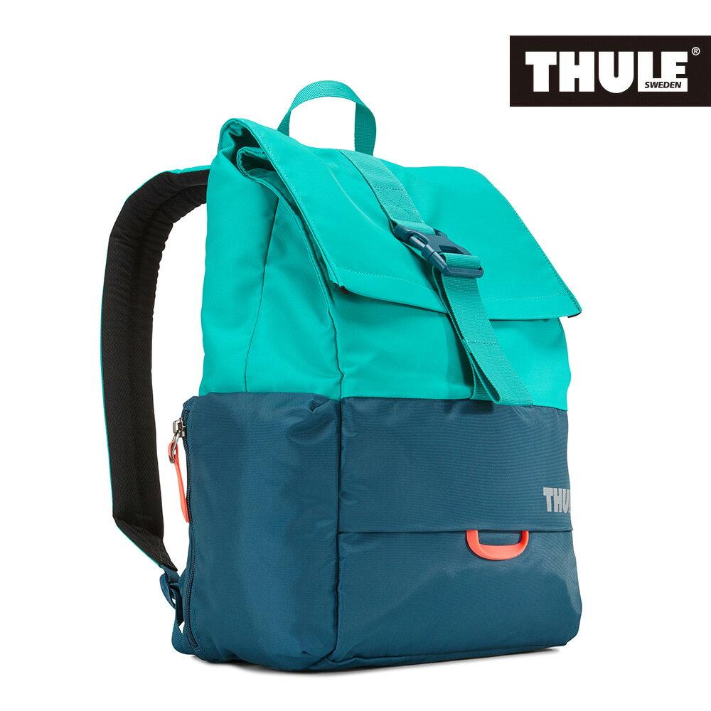 【THULE 都樂】Daypack 多功能13吋電腦雙肩後背包 TDSB-113水藍雙色