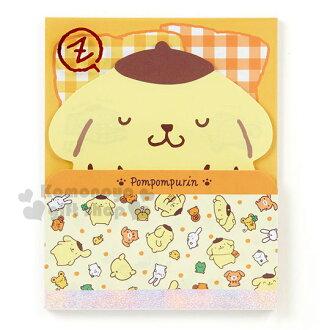 〔小禮堂〕布丁狗 日製造型便條本《黃.蓋棉被.睡覺》3種圖案