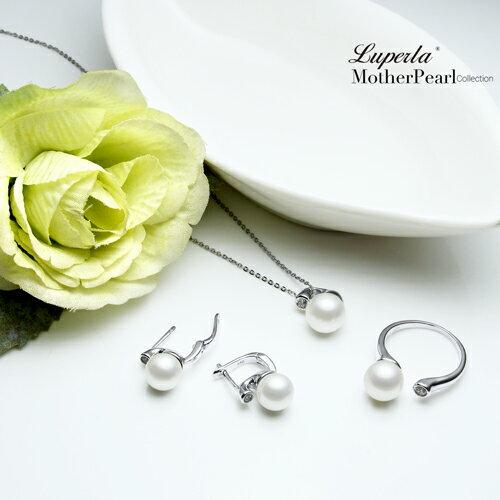 大東山珠寶 鑽石女伶 純銀晶鑽貝珠戒指 3