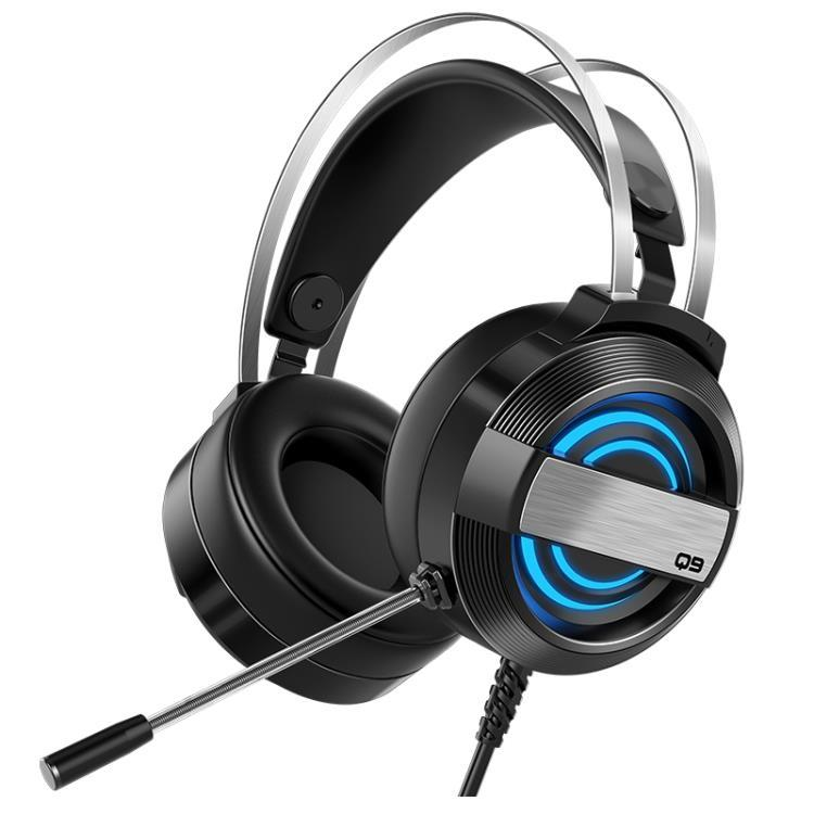 諾西Q9電腦耳機頭戴式耳麥電競游戲吃雞台式機筆記本帶麥克風有線【免運】