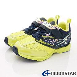日本月星頂級競速童鞋 2E勝戰獸運動系列 SSJ8675深藍黃(中大童段)