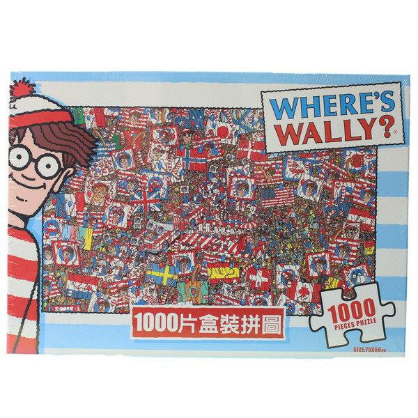 Where's Wally?威利在哪裡?拼圖 1000片拼圖 WW001 / 一盒入 { 促620 }  MIT製 75cm x 50cm 正版授權拼圖 0