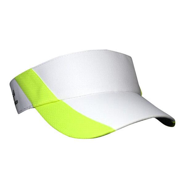 騎跑泳者-HEADSWEATS汗淂(全球運動帽領導品牌)UltraliteVisor中空遮陽帽白螢光綠