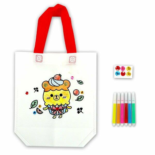 【888便利購】DIY兒童彩繪環保手提袋(附送6色彩色筆)