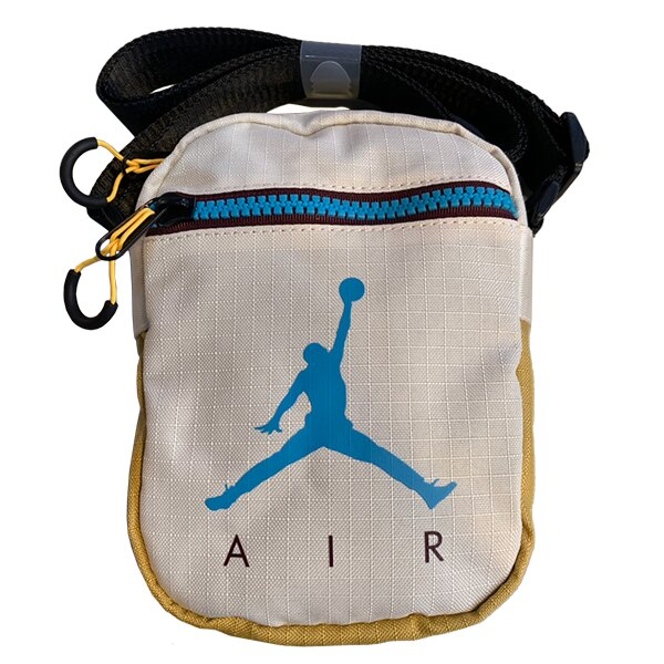 Shoestw【9A0197-W66】NIKE JORDAN Jumpman Air Festival Bag 側背包 多功能小側包 AIR JORDAN 大飛人 卡其芥末黃藍 0