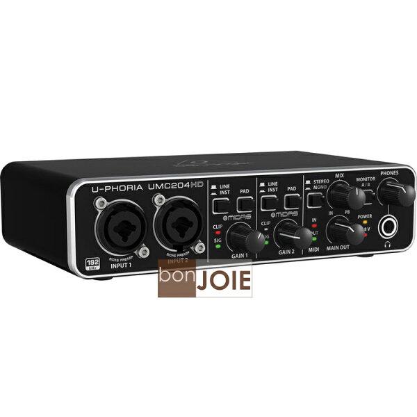 bonJOIE 品味決醒:::bonJOIE::美國進口BehringerUMC204HDUSB錄音介面(全新盒裝)USB2.0德國耳朵牌錄音卡內建48V幻象24Bit高取樣UMC204HD