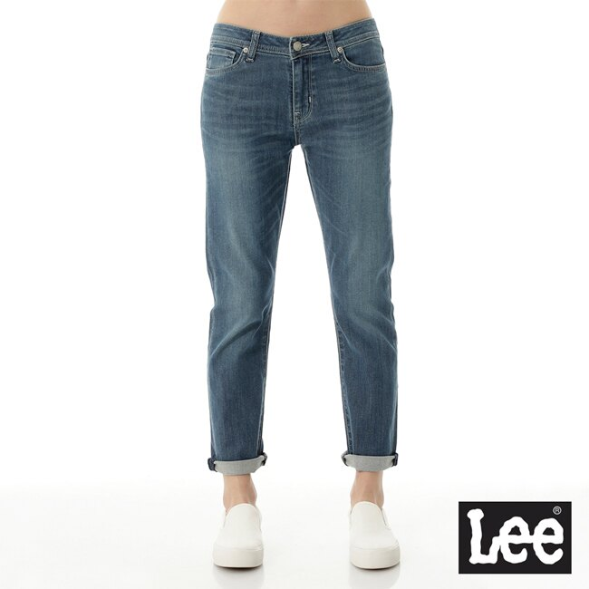【丹寧牛仔褲↘4.5折】Lee 401中腰標準小直筒牛仔褲