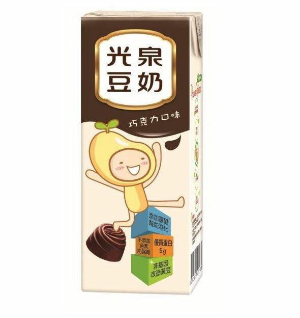 光泉巧克力豆奶200ml(6瓶/組)【合迷雅好物商城】