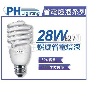 PHILIPS飛利浦 28W 120V 865 白光 E27 螺旋省電燈泡  PH160056