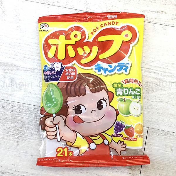 不二家棒棒糖青蘋果橘子葡萄草莓21枝食品日本製造進口JustGirl