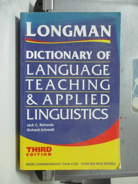 【書寶二手書T4/字典_OTS】Longman Dictionary of_Jack Richards