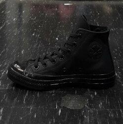 Converse 1970s 三星標 黑色 全黑 高筒 皮革 荔枝皮 復刻 70s 155454C