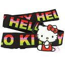 日本 凱蒂貓 HELLO KITTY旅行箱 行李箱束帶 黑底彩色字 ☆艾莉莎ELS☆