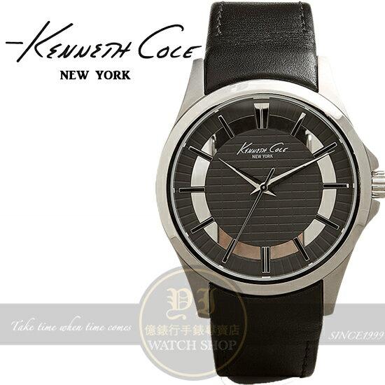 KennethCole國際品牌經典簡約鏤空紳士腕錶KC10022286公司貨設計師禮物情人節