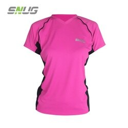 Snug-運動上衣 女版 抗UV50+ 吸濕排汗 短袖   羽嵐服飾