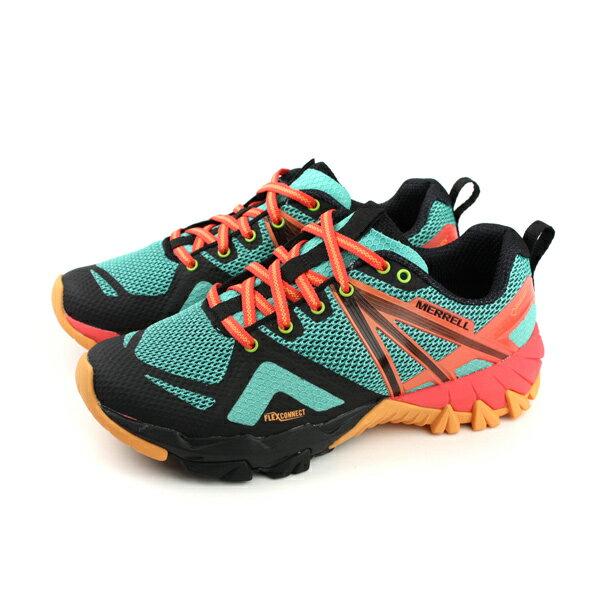 MERRELLMQMFLEXGTXGore-tex運動鞋多功能鞋GTX藍綠色女鞋ML98276no890