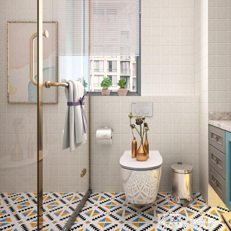 地面瓷磚貼紙防水自粘墻貼耐磨地貼衛生間浴室地板磚改造裝飾翻新