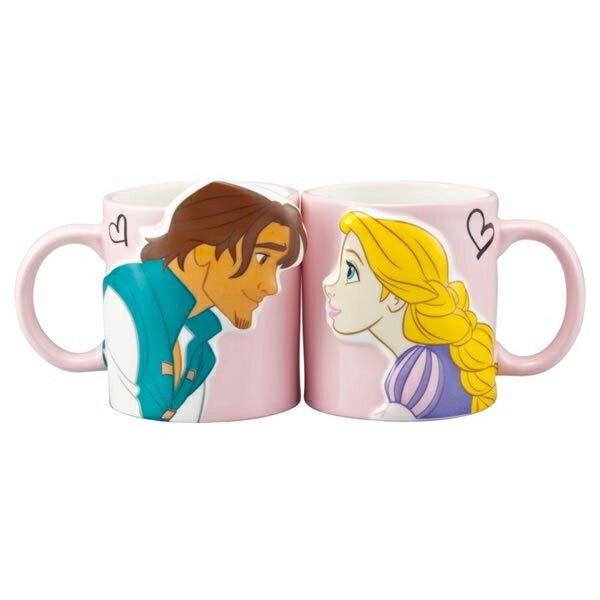 立體 對杯 情侶杯 樂佩 費林 長髮公主 茶杯 果汁杯 水杯 杯 馬克杯 4942423235361 真愛日本