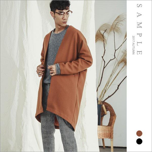 sample:現貨韓國製大衣無領西裝料【OS19333】-SAMPLE
