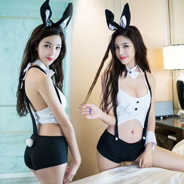 Cosplay 情趣兔女郎 角色扮演 兔女郎 COSPLAY 吊帶短褲 性感 ~~Y844