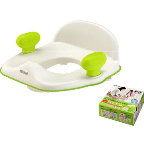 *美馨兒*日本Richell利其爾-Pottis椅子型便器輔助便座(白綠)790元