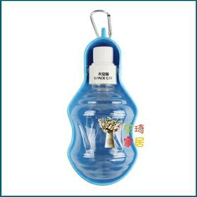 寵物飲水機 貓咪水壺飲水器外出便攜水壺懸掛外帶餵水器貓喝水狗狗碗寵物用品 流行花園