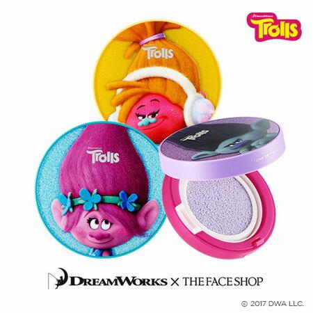 韓國THEFACESHOP魔髮精靈修容氣墊粉餅15g氣墊粉餅修飾底妝校正膚色潤色DreamWorks聯名【B062738】
