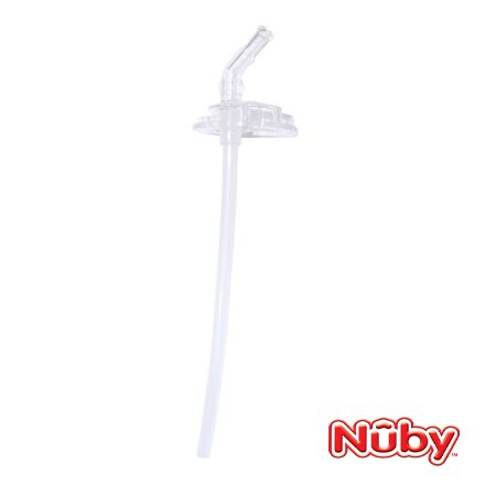 Nuby 3D超輕量不銹鋼真空學習杯配件-吸管配件組【悅兒園婦幼生活館】
