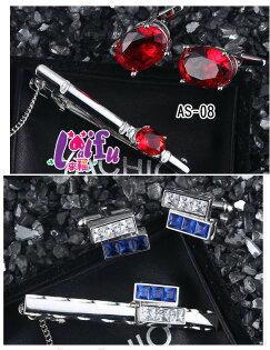 來福,K1119超高檔皇室領夾領帶夾袖扣套組,一組售價799元