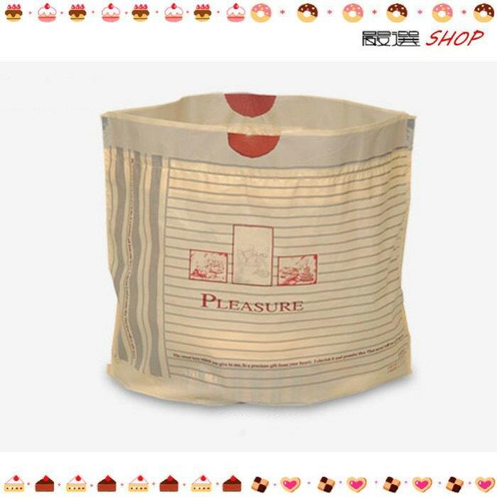 【嚴選SHOP】木紋款 質感 乳酪拉拉袋 塑膠袋 手提袋 抽繩袋 蛋糕袋【D071】