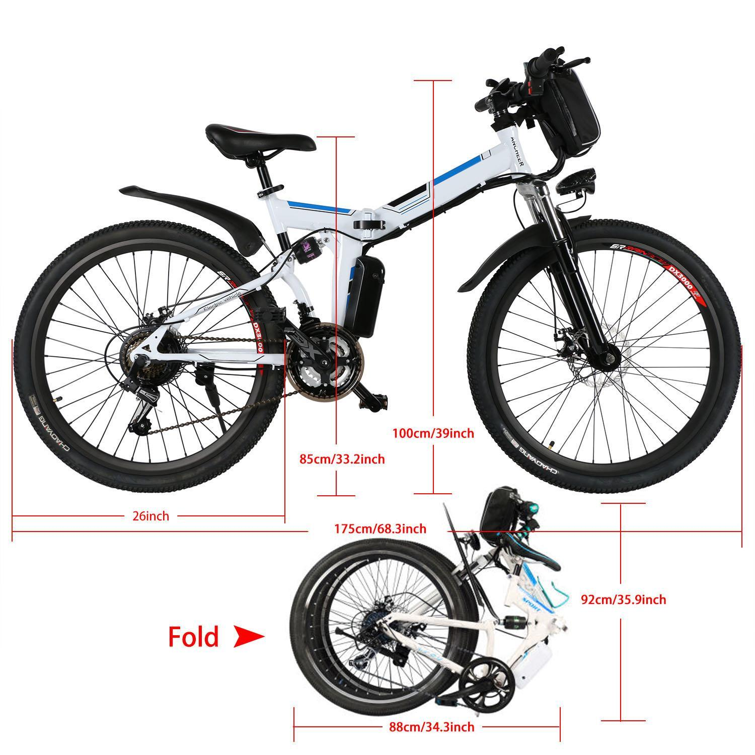 26inch 36V Foldable Electric Power Mountain Bicycle with Lithium-Ion Battery 3