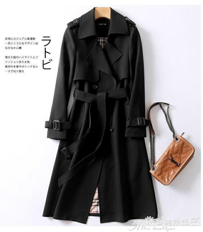 風衣外套 2020新款英倫女士風衣中長款大碼韓版收腰顯瘦修身秋冬季外套