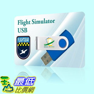 [106美國直購] 飛行模擬器 Realistic Flight Simulator X Sim Aircraft plane Mac OSX Windows XP 7 8 10 USB