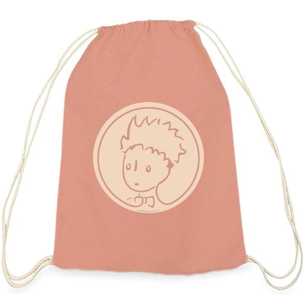 【小王子經典版】彩色束口後背包-玫瑰花園(粉)