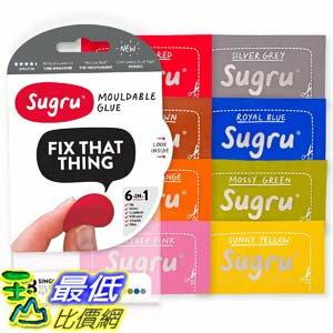 [106美國直購] Sugru SCLR8 超級黏土 創意塑型黏土 Moldable Glue (Pack of 8)