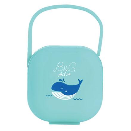 【悅兒園婦幼生活館】Baby Garden 安撫奶嘴收藏盒/香草奶嘴適用-小藍鯨