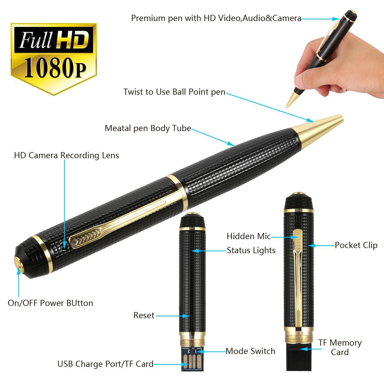 1080p FULL HD Mini Camera Recorder Hidden Pen 0