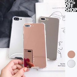 50%OFF SHOP補妝神器iPhone鏡子手機殼網紅同款鏡面防摔軟殼【AT037447PC】