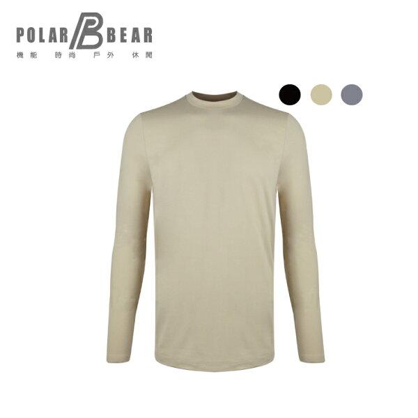 【POLARBEAR】男彈性日本DasThermometer圓領保暖衣