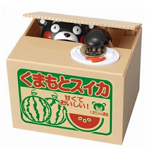 【日本進口正版】 熊本熊 存錢筒 儲金箱 偷錢箱 Kumamon 庫瑪蒙 禮物 - 376442