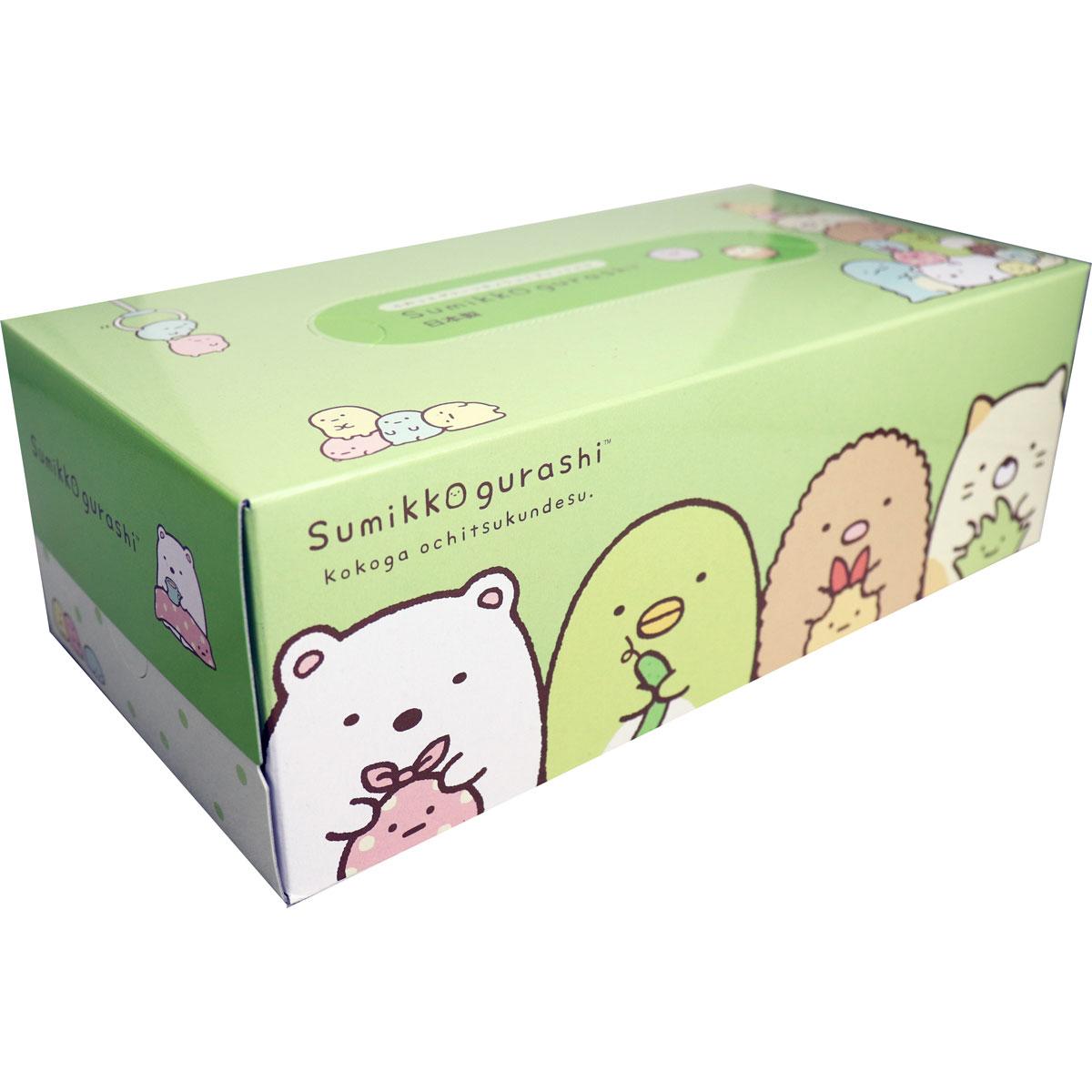 大賀屋 角落生物 衛生紙 面紙 紙巾盒 面紙盒 保濕 無螢光 卡通 角落小夥伴 幼兒 正版 授權 J00014227