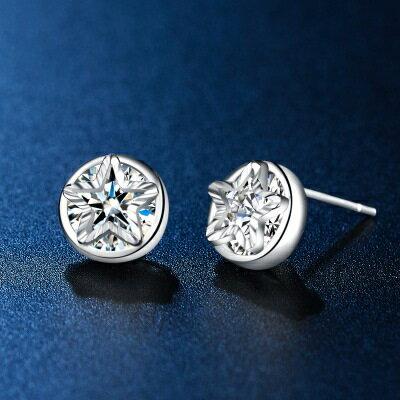 925純銀耳環鑲鑽耳飾~精緻閃耀小巧玲瓏生日情人節 女飾品73hk34~ ~~米蘭 ~