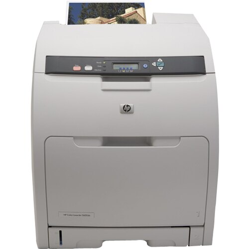 HP LaserJet 3600dn Laser Printer - Color - 600 x 600 dpi Print - Plain Paper Print - Desktop - 17 ppm Mono / 17 ppm Color Print - Letter, Legal, Executive, A4, A5, B5 (JIS), DL Envelope, C5 Envelope, ... - 350 sheets Standard Input Capacity - 50000 Duty C 0