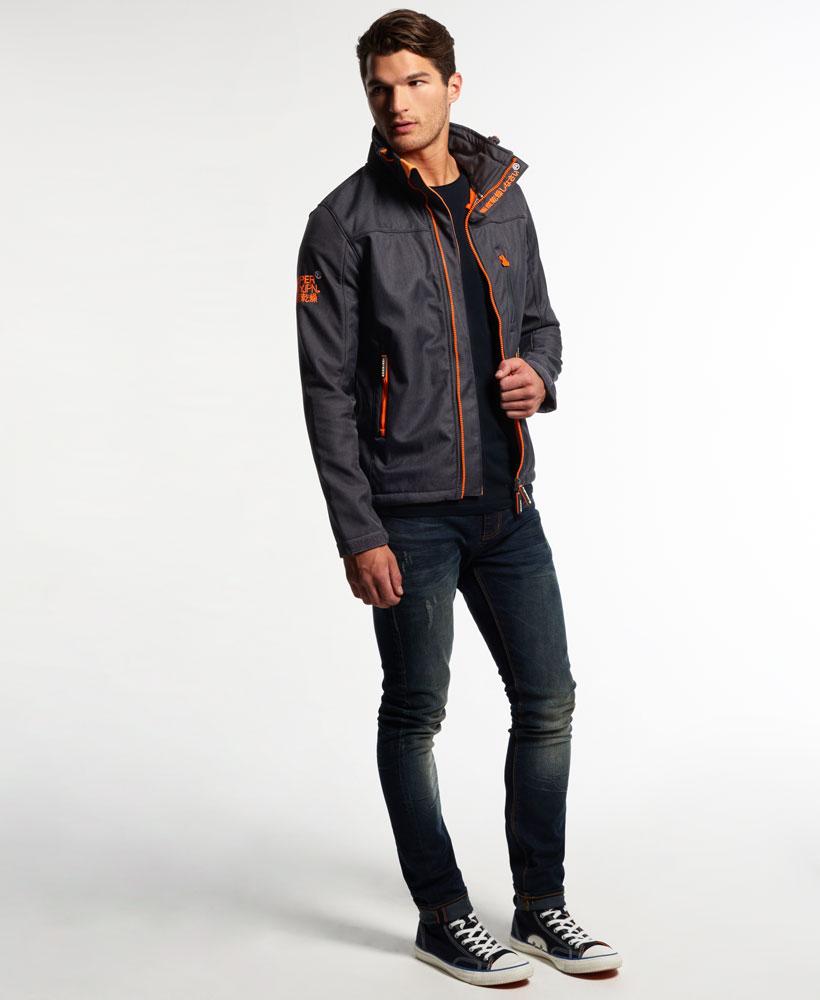 英國名品 代購 極度乾燥 Superdry Windtrekker 男士風衣戶外休閒外套 防水 深灰/螢光橙 1