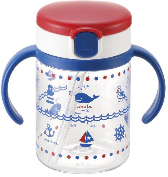【淘氣寶寶】《日本 Richell 利其爾》第三代LC戶外吸管水杯200ml【藍海夢】