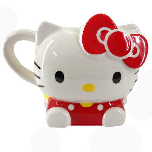 ~真愛 ~15090200007人型馬克杯~KT紅 三麗鷗 Hello Kitty 凱蒂