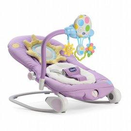 【淘氣寶寶*獨家加贈chicco彈性矽膠學習湯】ChiccoBalloon安撫搖椅造型版(粉藕紫)【從出生開始到18公斤適用】
