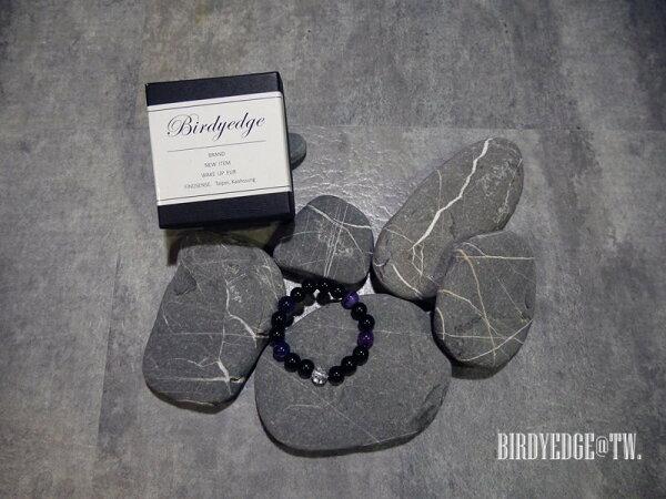 BIRDYEDGE男女水晶爆裂紫渲染麻腦手環配件單品情侶