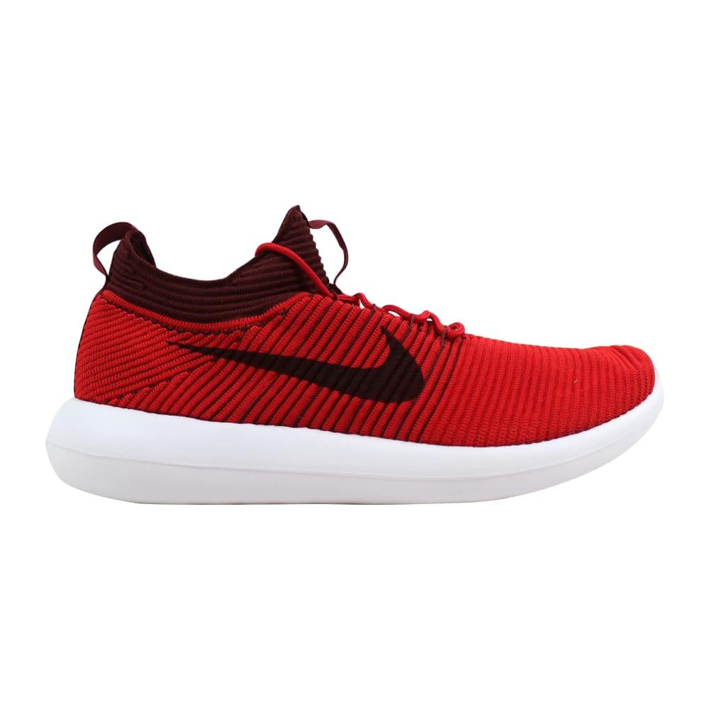 92606eb1d8424 Nike Roshe Two 2 Flyknit V2 University Red Dark Team Red 918263-600 Men s